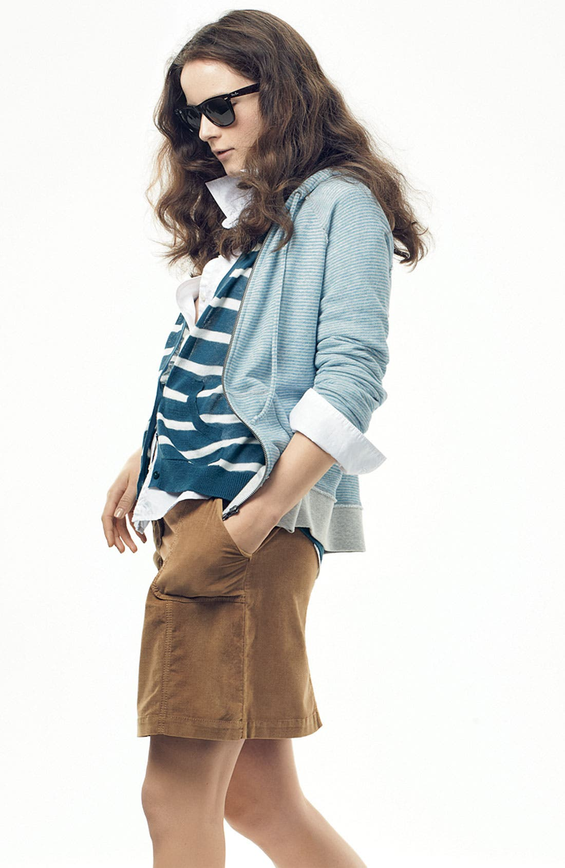 Alternate Image 4  - Caslon® Raglan Sleeve V-Neck Cardigan