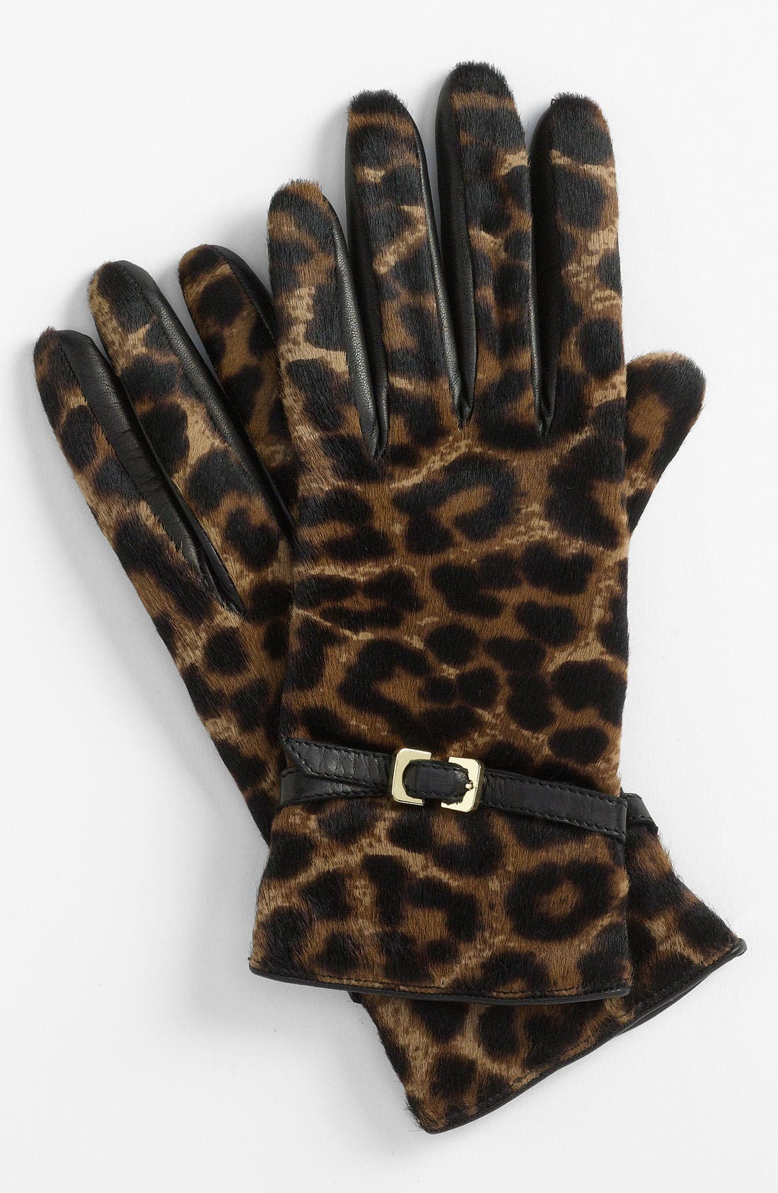 Main Image - Diane von Furstenberg Buckled Calf Hair Gloves