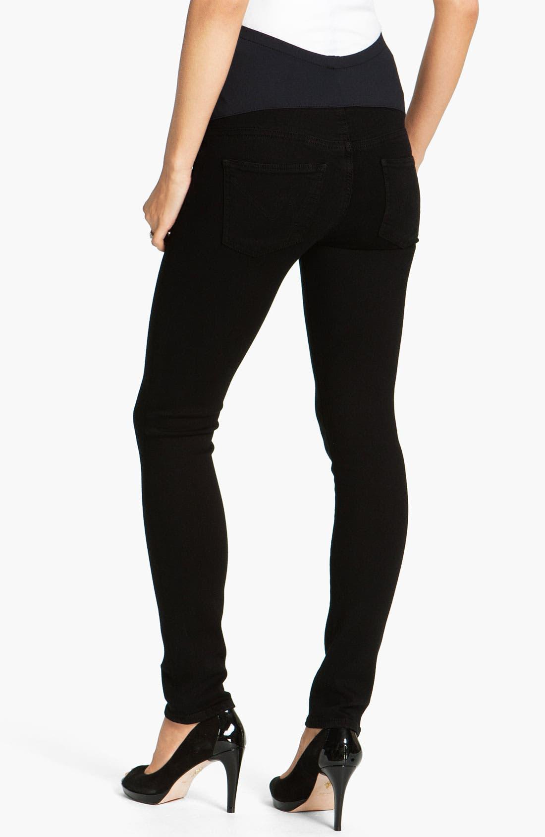 Alternate Image 2  - Citizens of Humanity Maternity Ultra Skinny Stretch Jeans (Star)