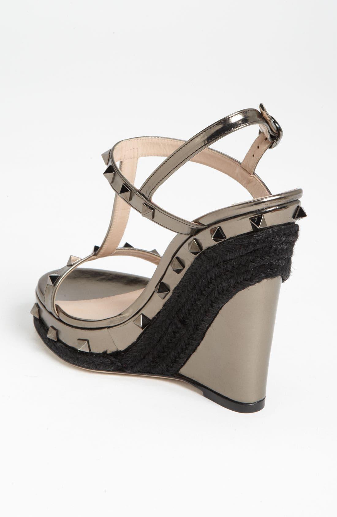 Alternate Image 2  - VALENTINO GARAVANI 'Rockstud' Wedge Sandal
