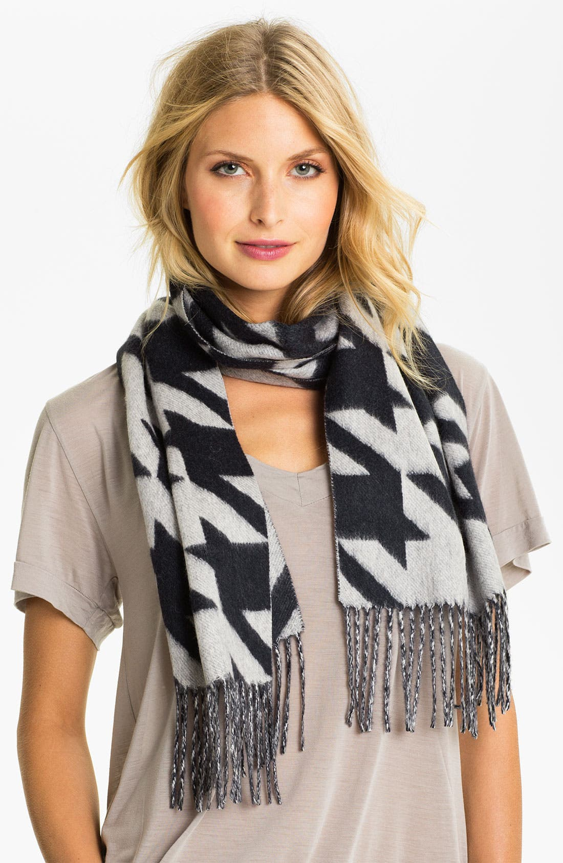 Alternate Image 1 Selected - Nordstrom Houndstooth Cashmere Muffler