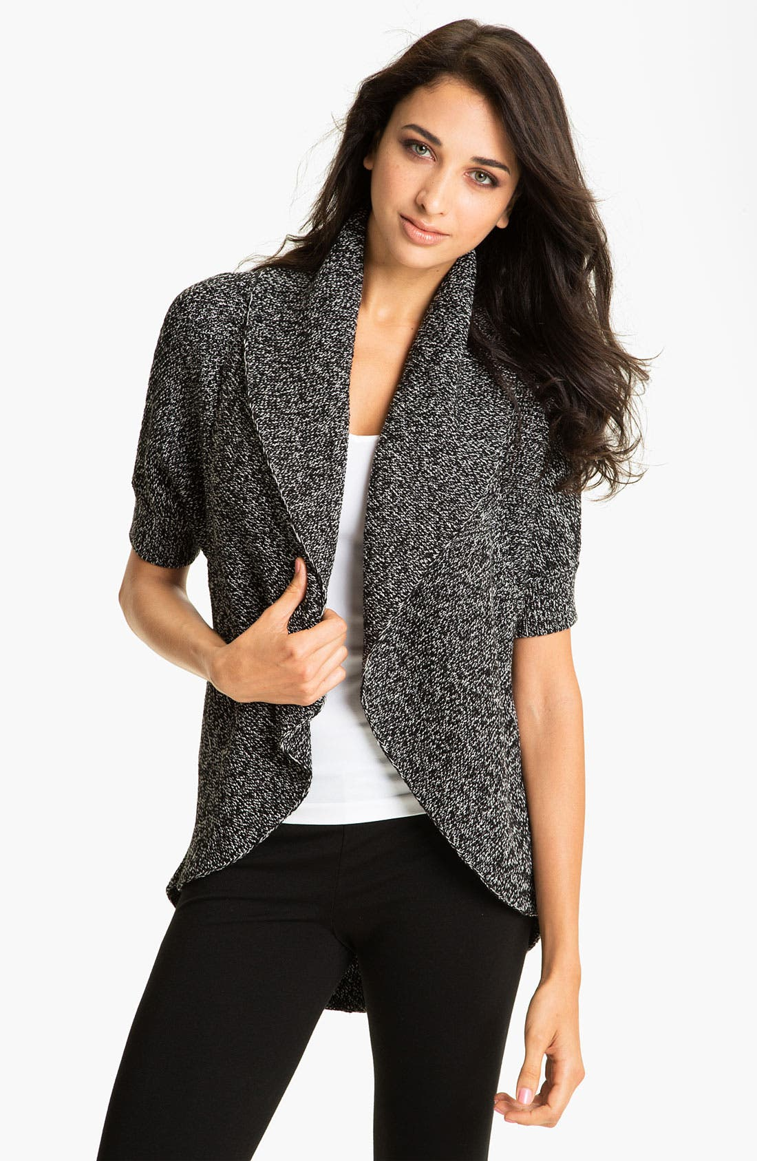 Alternate Image 1 Selected - Vince Camuto Shawl Collar Marled Cardigan