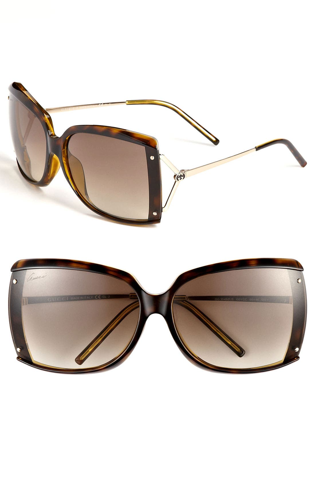 Main Image - Gucci 66mm Special Fit Sunglasses