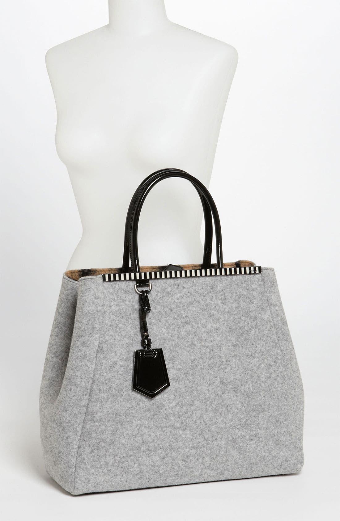 Alternate Image 2  - Fendi '2Jours - Large' Felted Wool Shopper