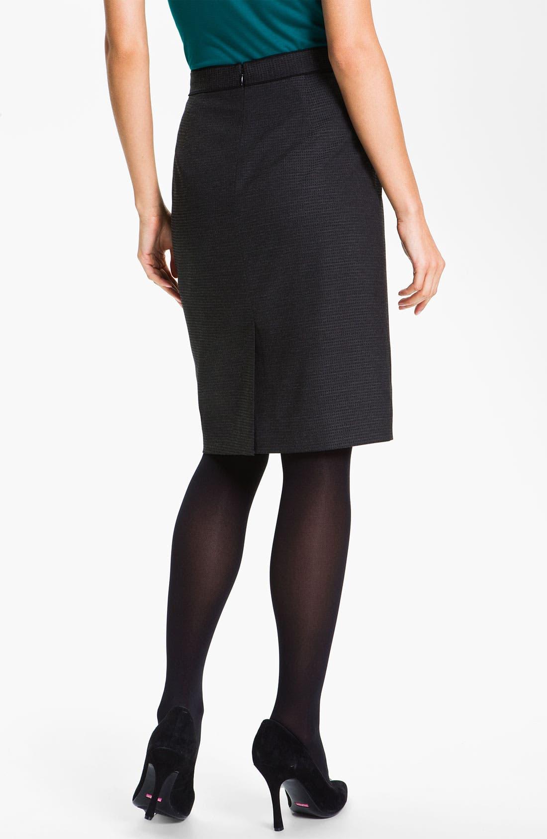 Alternate Image 2  - Classiques Entier® 'Glam Grid' Skirt