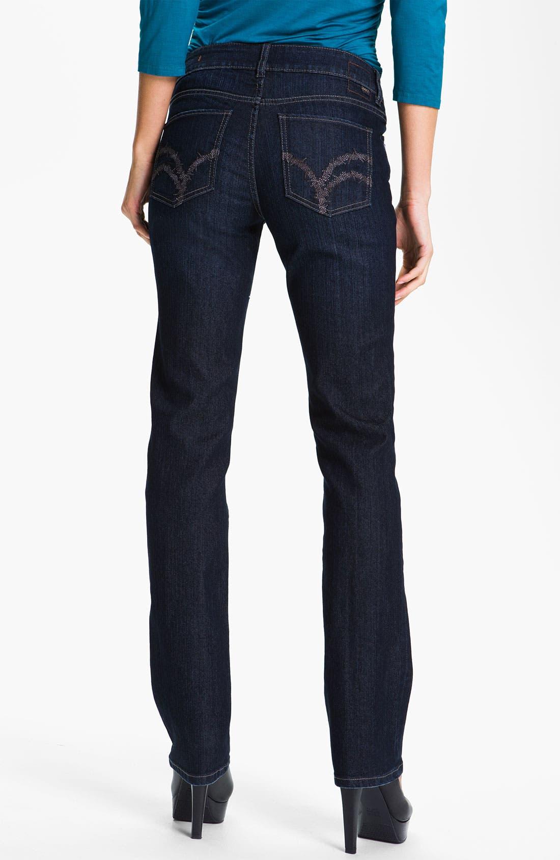 Alternate Image 2  - Jag Jeans 'Eden' Straight Leg Jeans (Indigo) (Petite)