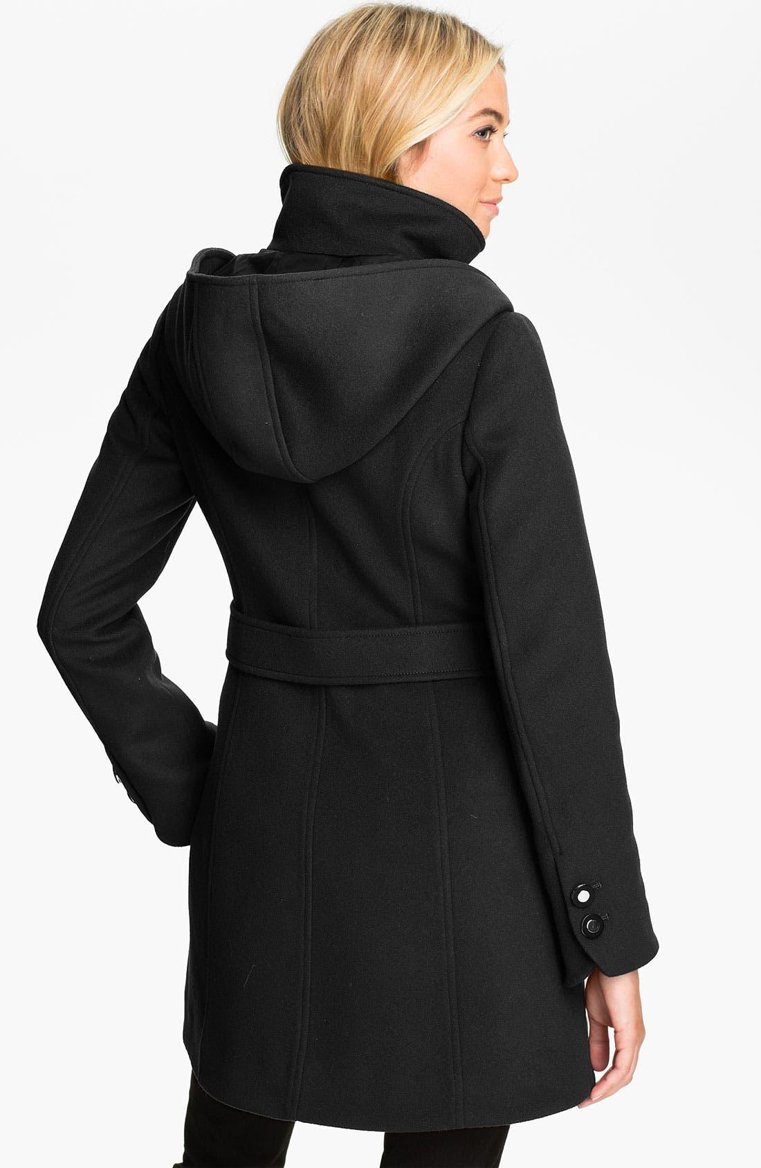 Alternate Image 2  - Soïa & Kyo Hooded Wool Coat