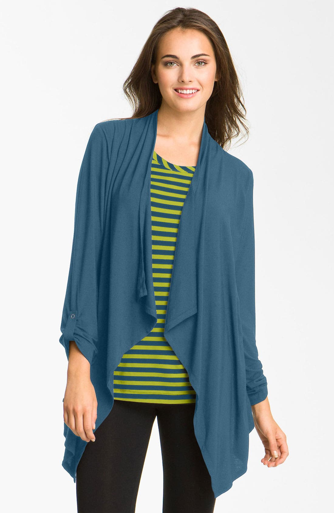 Alternate Image 1 Selected - DKNY 'Effortlessly' Layered Look Top