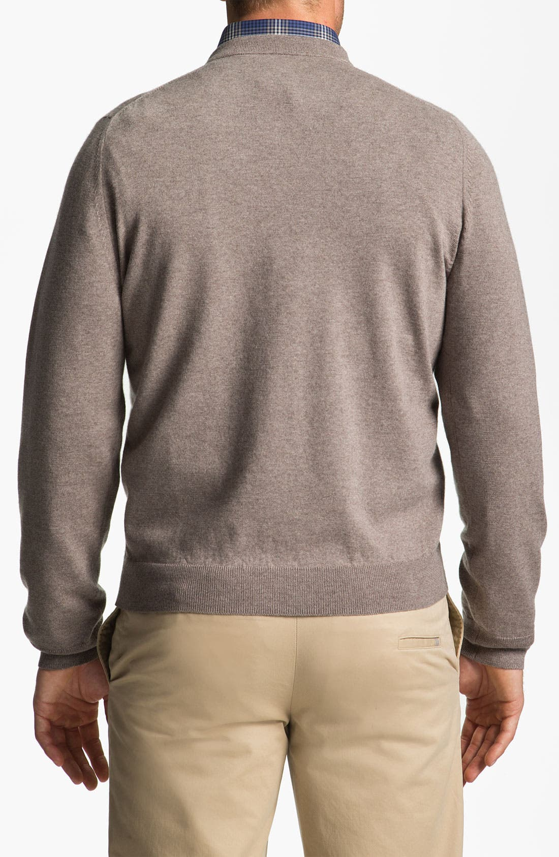 Alternate Image 2  - Nordstrom V-Neck Merino Wool Sweater