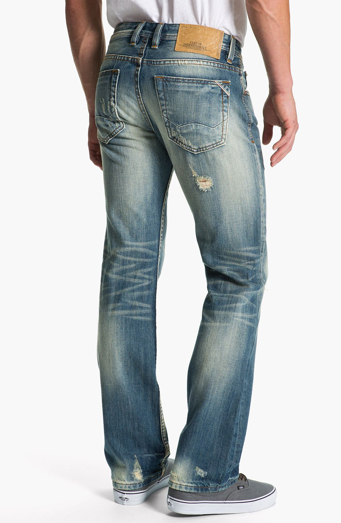 Alternate Image 1 Selected - Cult of Individuality 'Hagen' Relaxed Straight Leg Jeans (Light Blue)