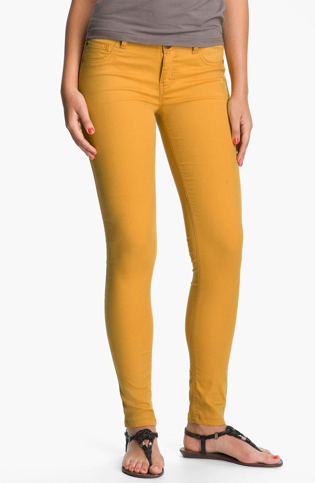 Alternate Image 2  - Fire Skinny Jeans (Juniors)