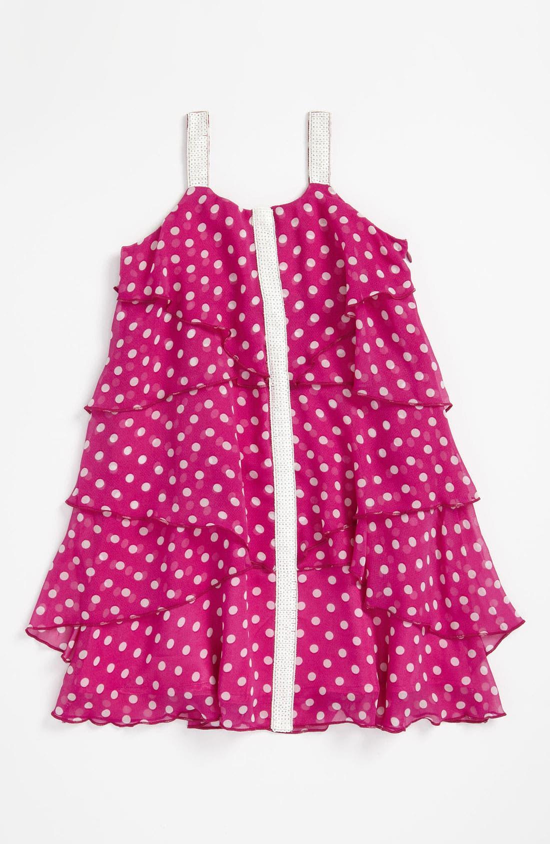 Main Image - Elisa B Chiffon Print Dress (Little Girls & Big Girls)