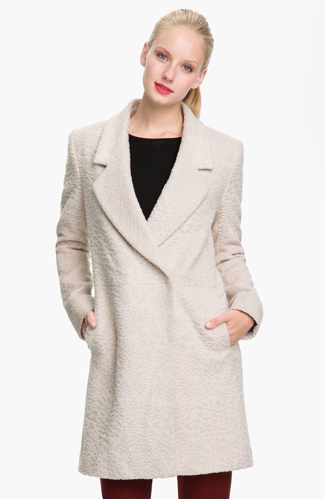 Main Image - Tahari 'Robyn' Textured Coat