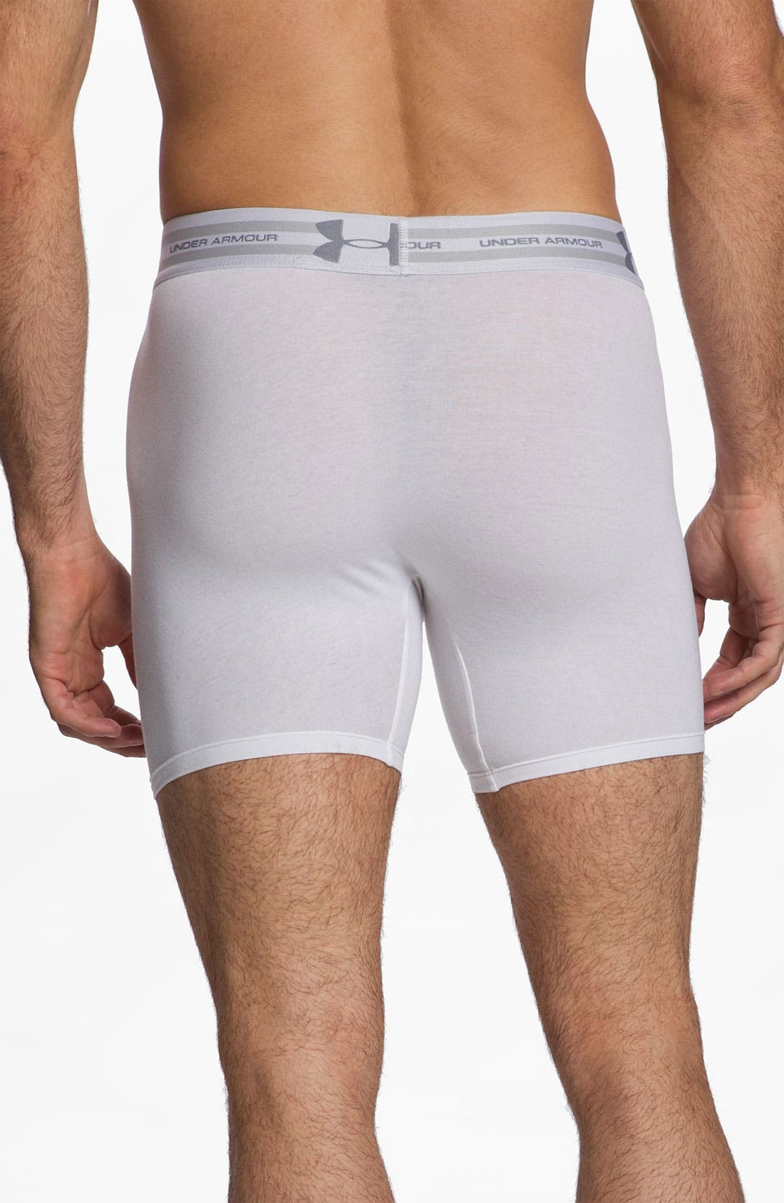 Alternate Image 2  - Under Armour Charged Cotton® Boxer Briefs