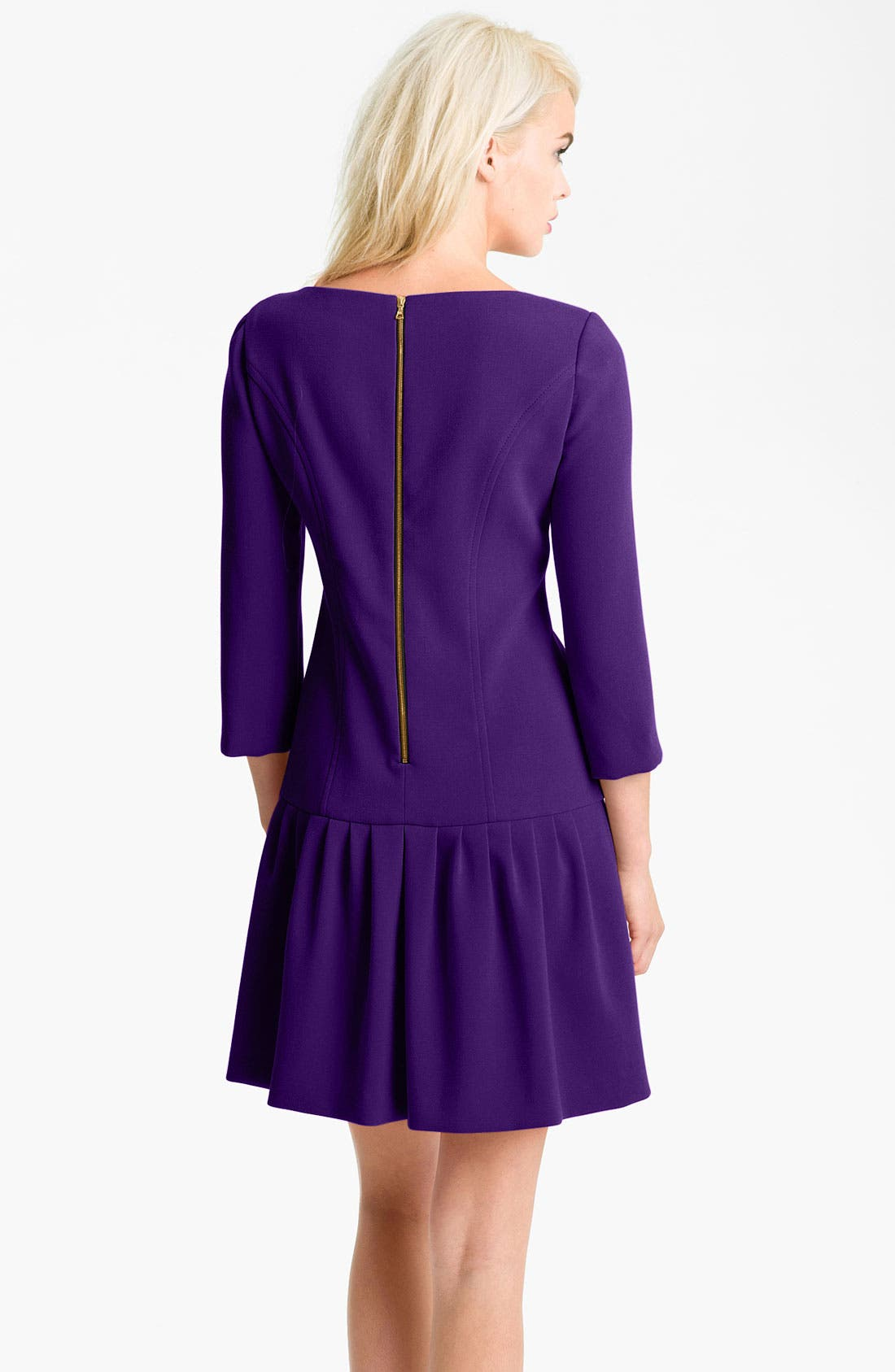 Alternate Image 2  - Eliza J Seam Detail Drop Waist Dress