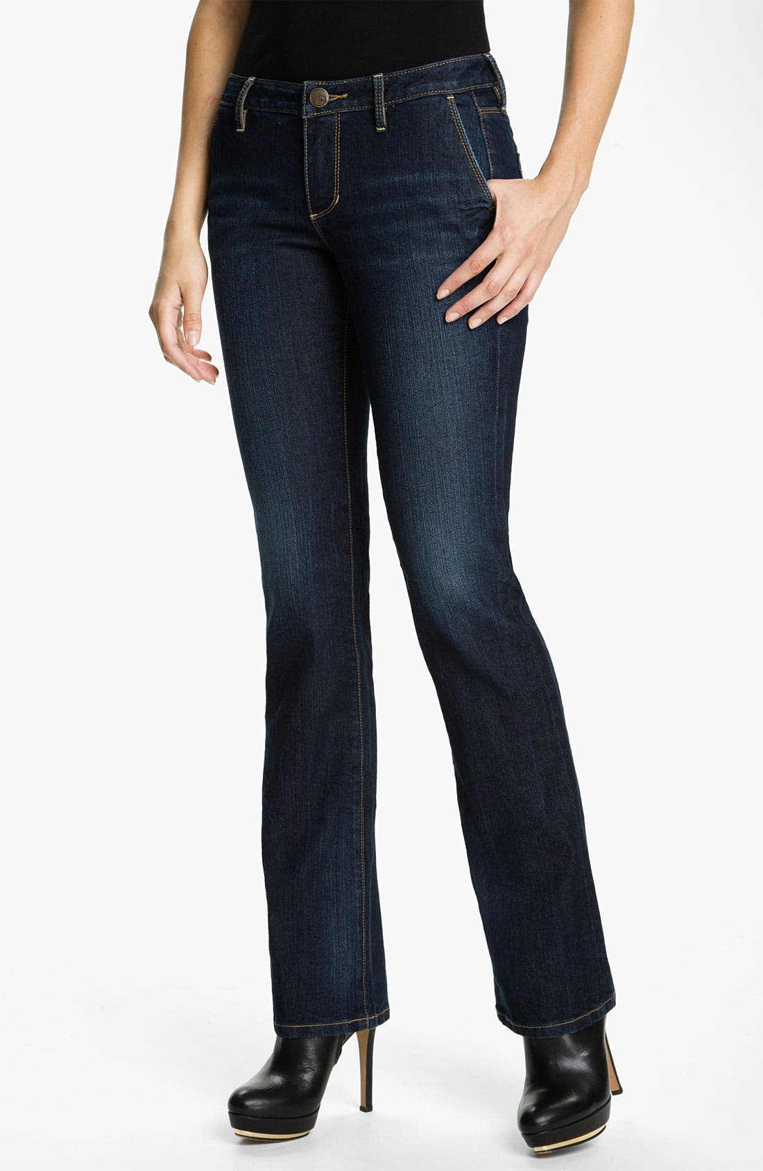 Alternate Image 1 Selected - Jag Jeans 'Virginia' Bootcut Stretch Jeans (Roswell) (Petite)