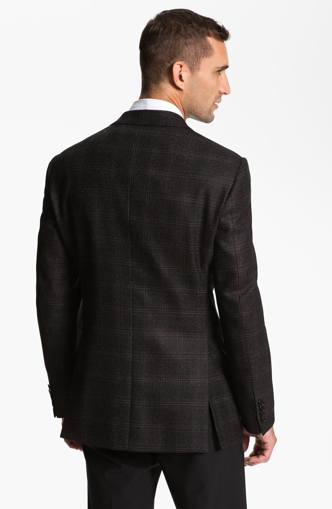 Alternate Image 2  - Armani Collezioni 'Giorgio' Trim Fit Plaid Sportcoat