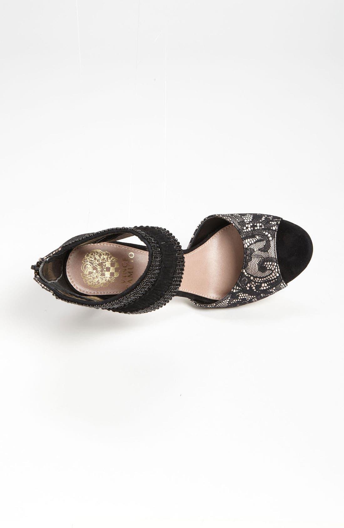 'Lissa' Sandal,                             Alternate thumbnail 3, color,                             Black