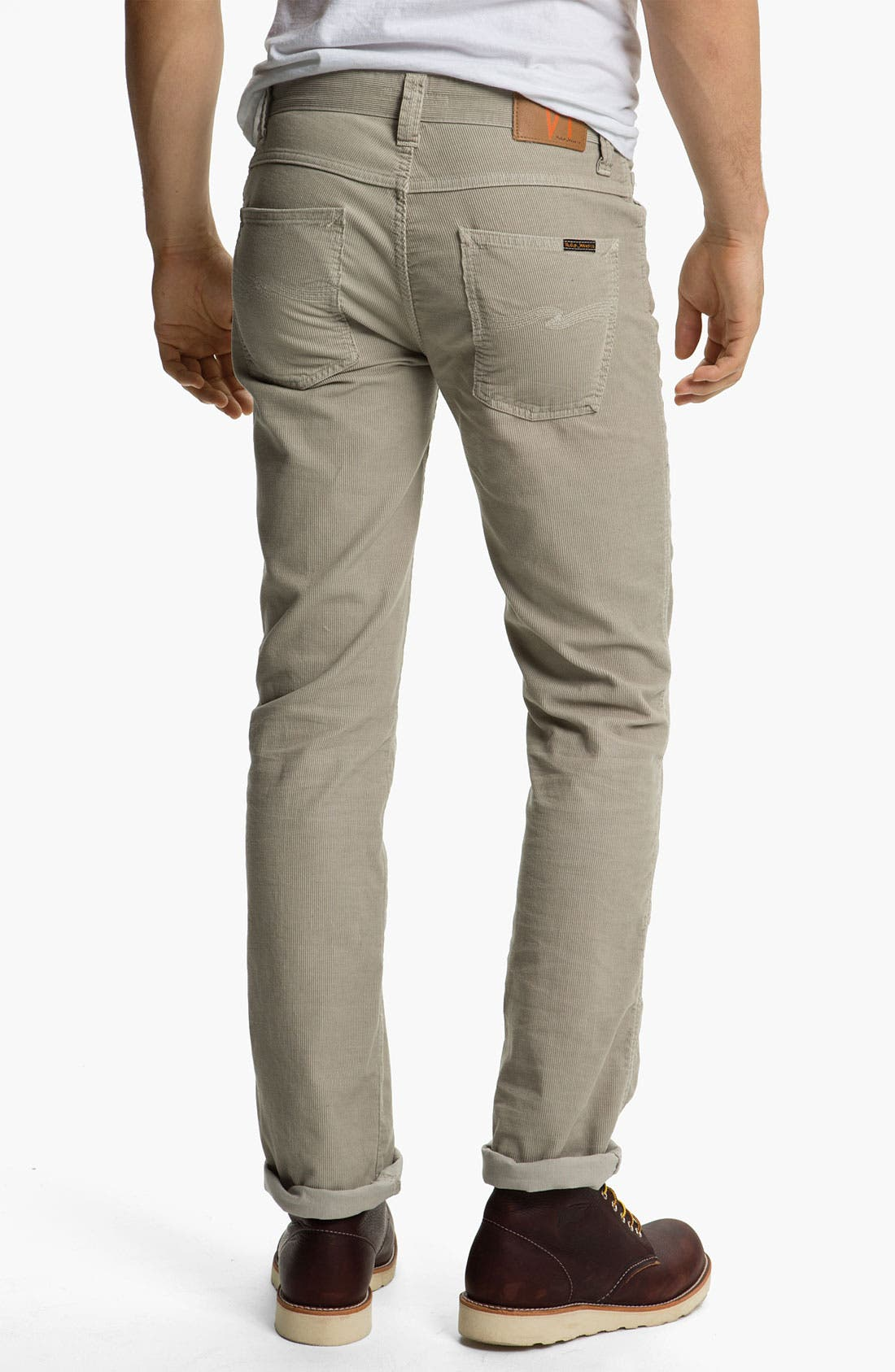 Alternate Image 1 Selected - Nudie 'Slim Jim' Slim Straight Leg Corduroy Pants