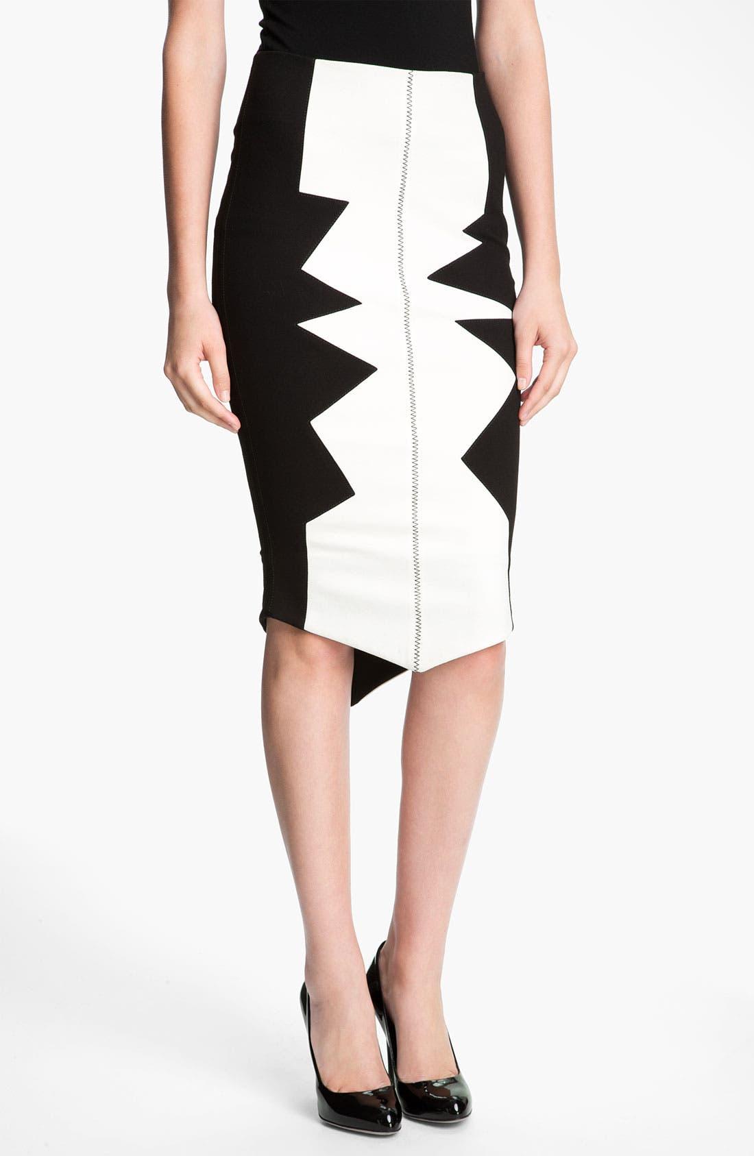 Alternate Image 1 Selected - Kelly Wearstler 'Organto' Contrast Panel Knit Pencil Skirt