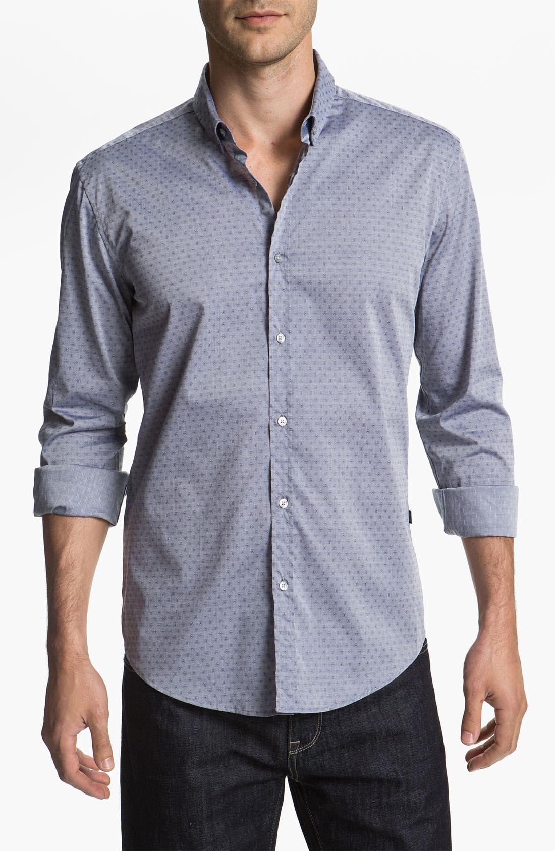 Alternate Image 1 Selected - BOSS Black 'Peric' Slim Fit Sport Shirt