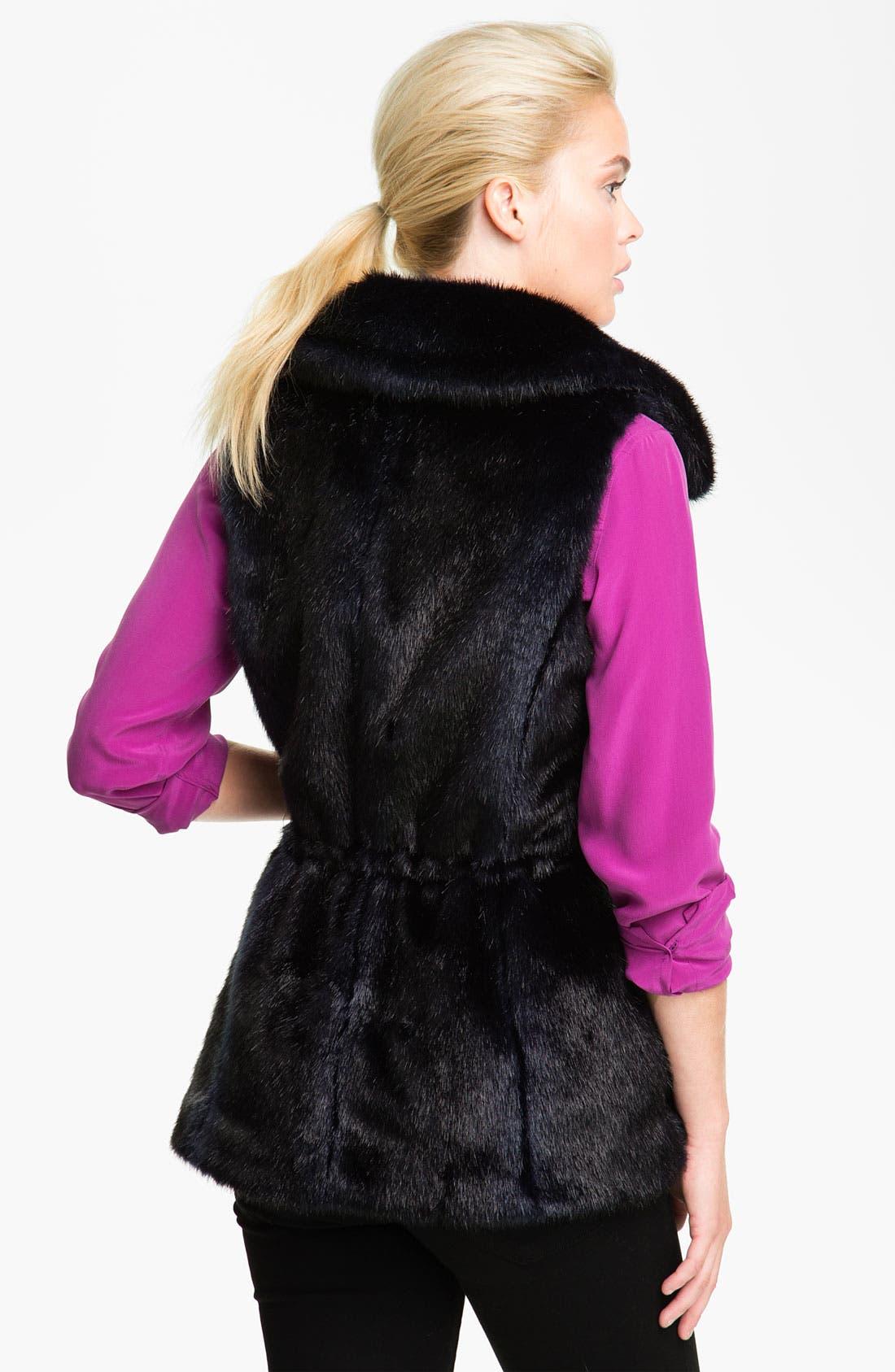 Alternate Image 2  - Ellen Tracy Faux Fur Anorak Vest (Nordstrom Exclusive)