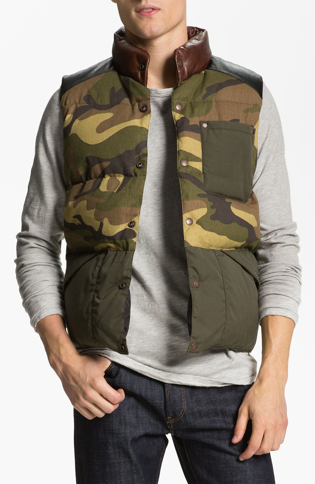 Main Image - Penfield 'Outback Camo' Down Vest