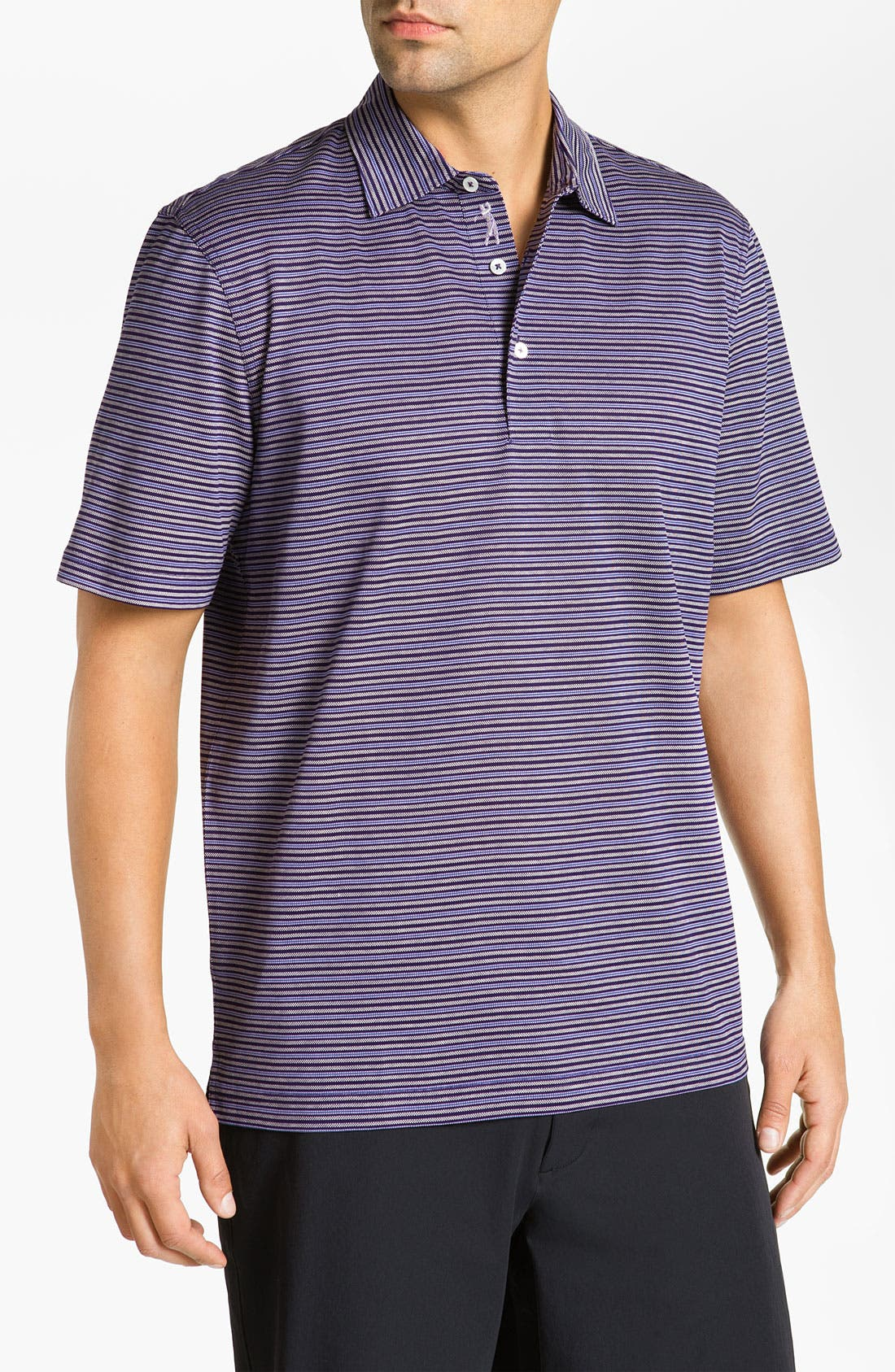 Alternate Image 1 Selected - Bobby Jones Stripe Piqué Polo