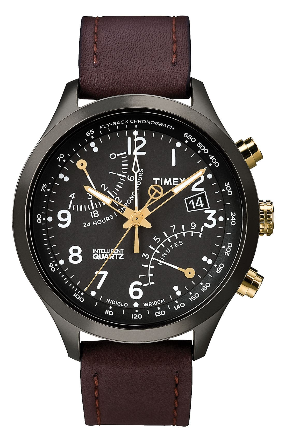 Alternate Image 1 Selected - Timex® 'Intelligent Quartz' Fly-Back Chronograph Watch, 43mm