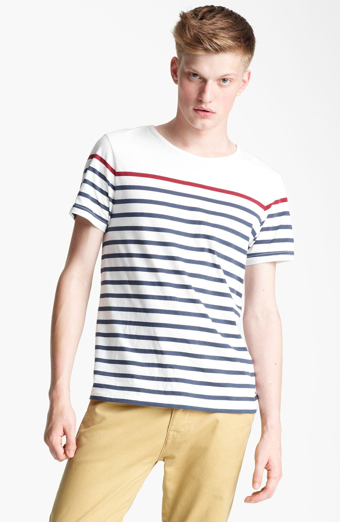 Alternate Image 1 Selected - Topman Breton Stripe T-Shirt
