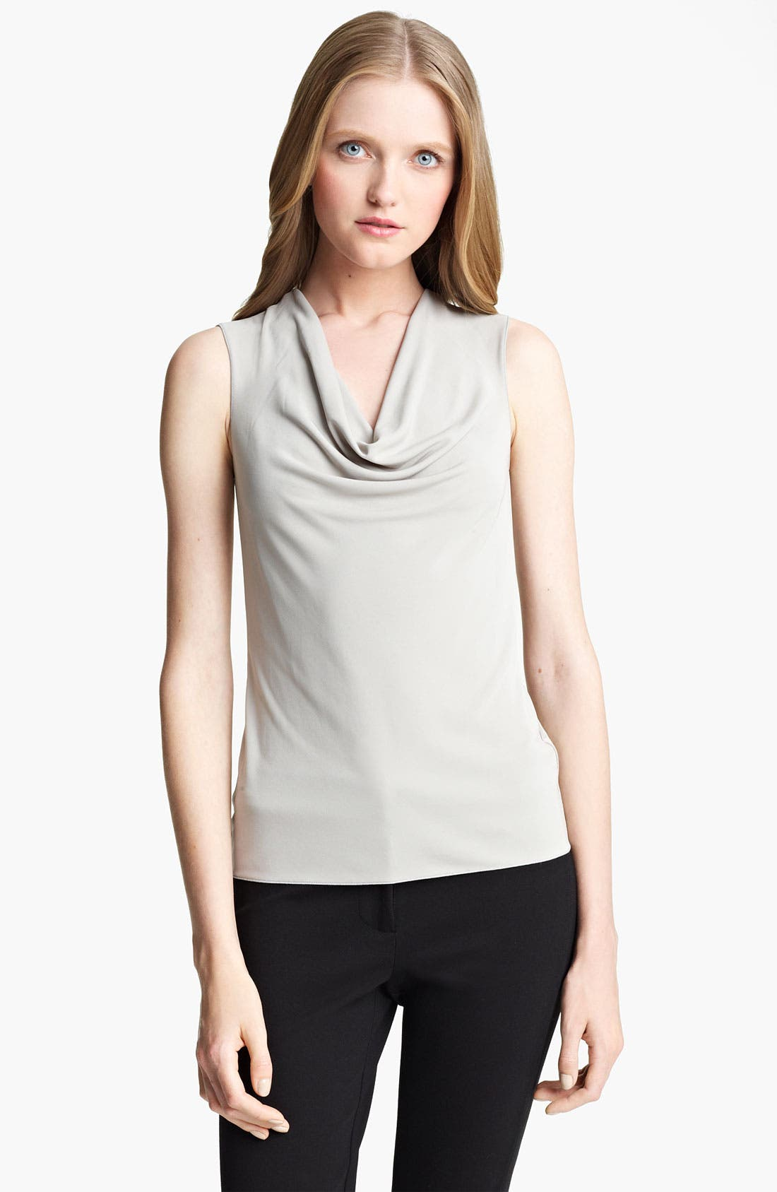 Alternate Image 1 Selected - Armani Collezioni Matte Jersey Top