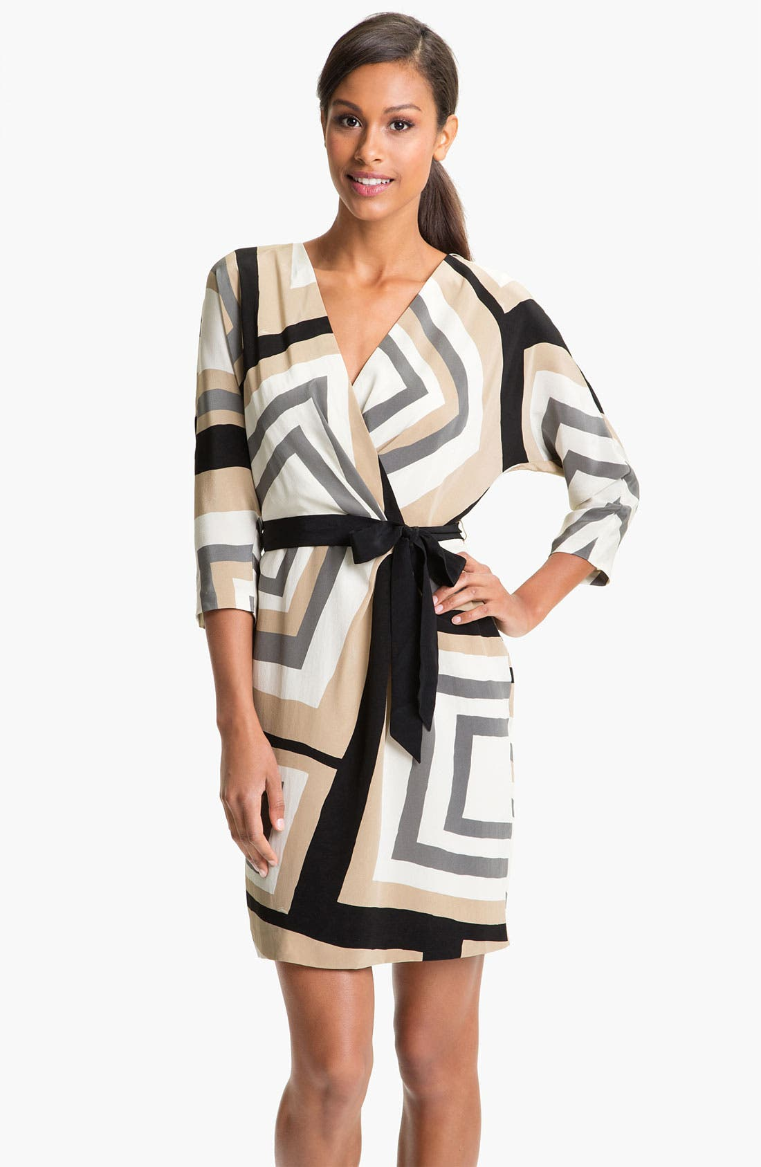 Main Image - Trina Turk Print Surplice Silk Dress