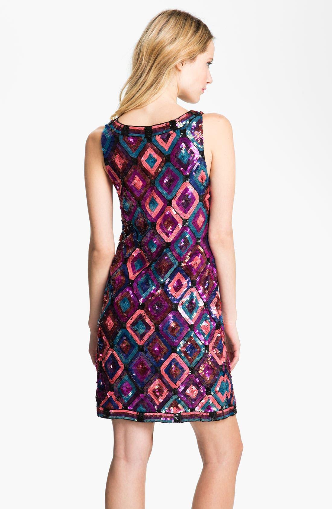 Alternate Image 2  - Trina Turk Sequin Diamond Shift Dress
