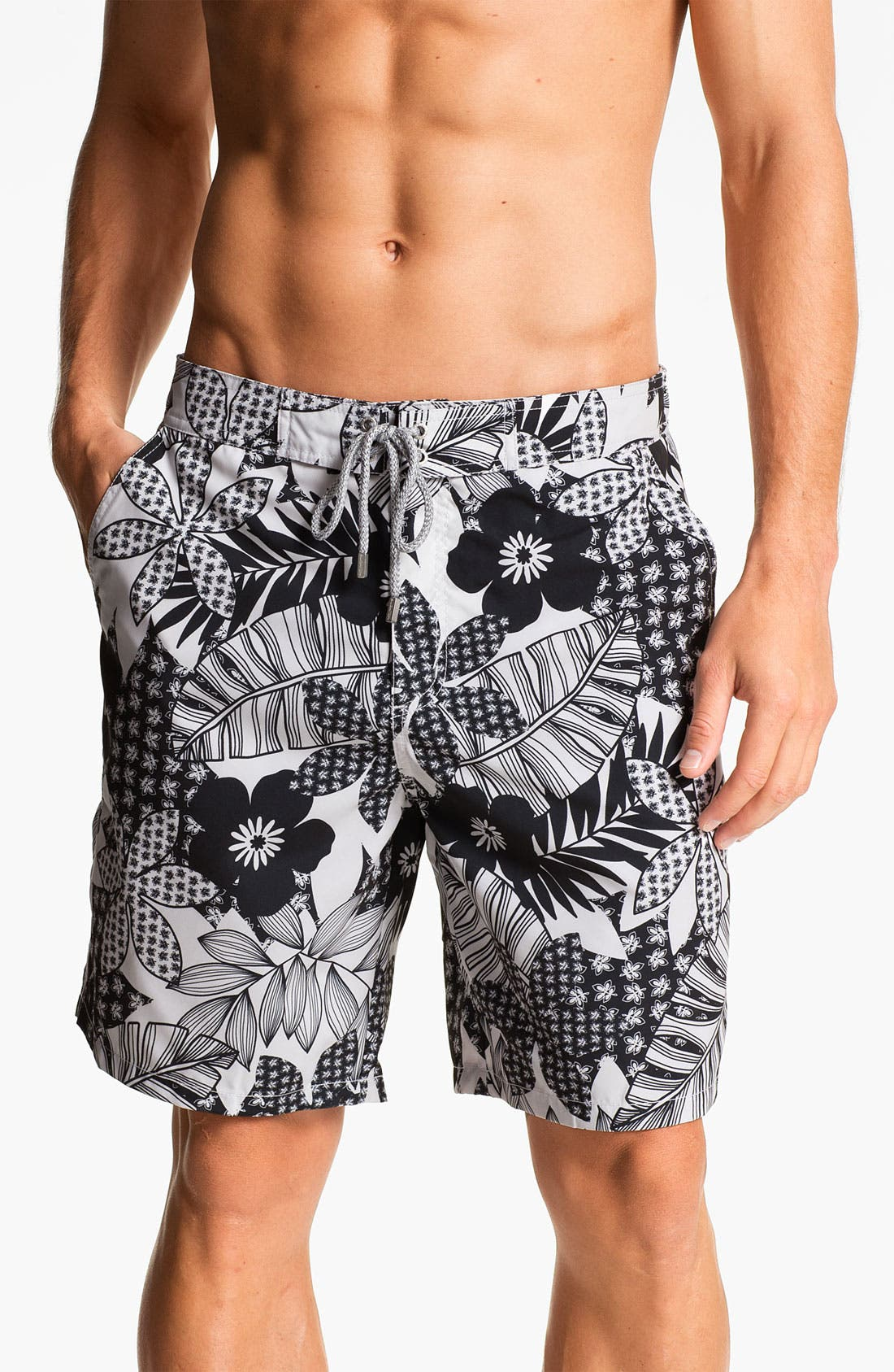 Alternate Image 1 Selected - Bugatchi Uomo Print Board Shorts