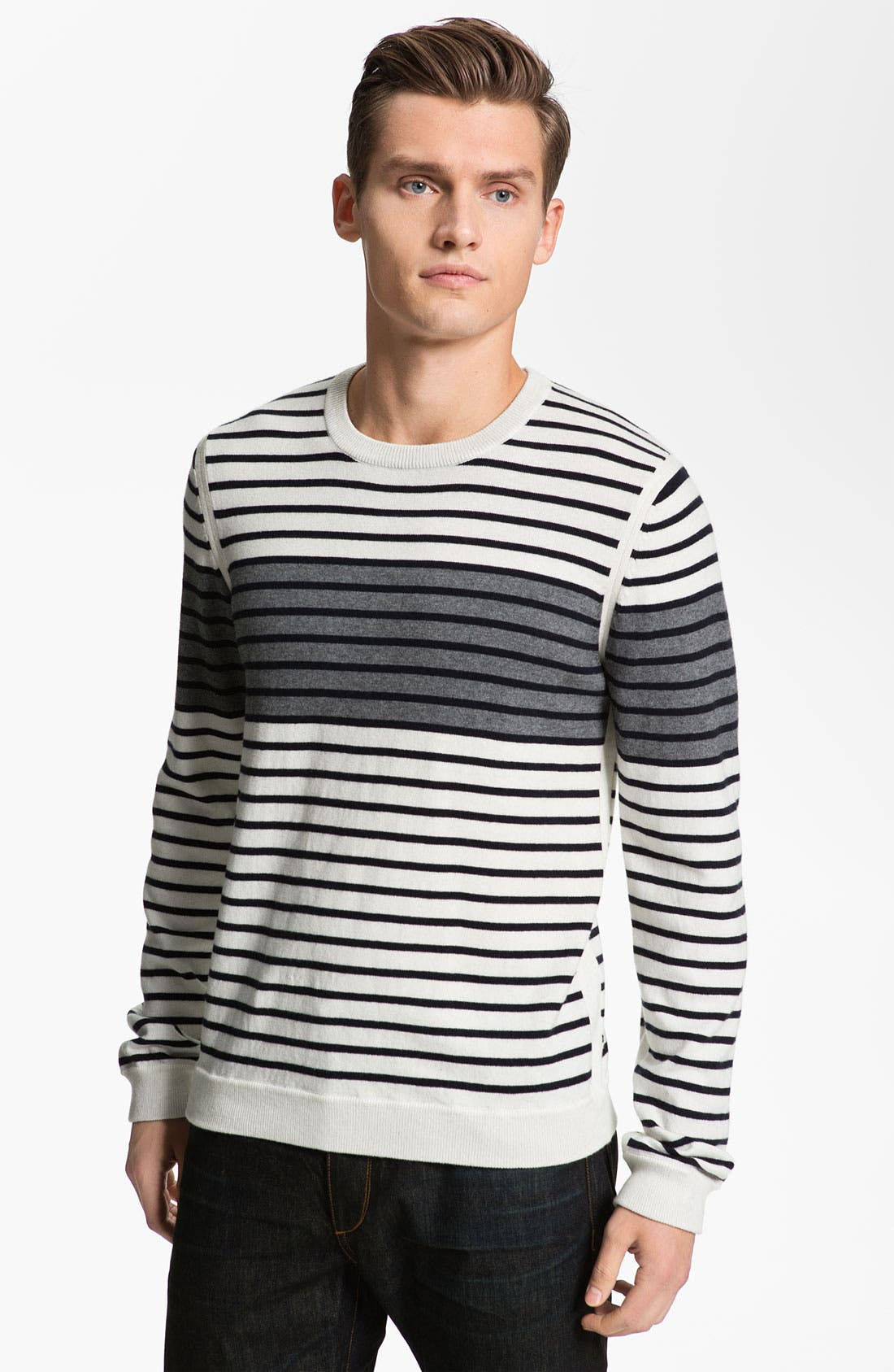 Alternate Image 1 Selected - rag & bone 'Patagonia' Stripe Crewneck Sweater