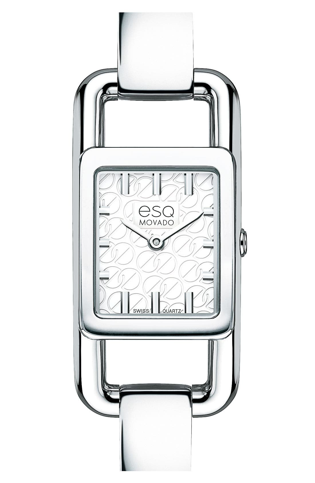 Alternate Image 1 Selected - ESQ Movado 'Angle' Rectangular Bangle Watch