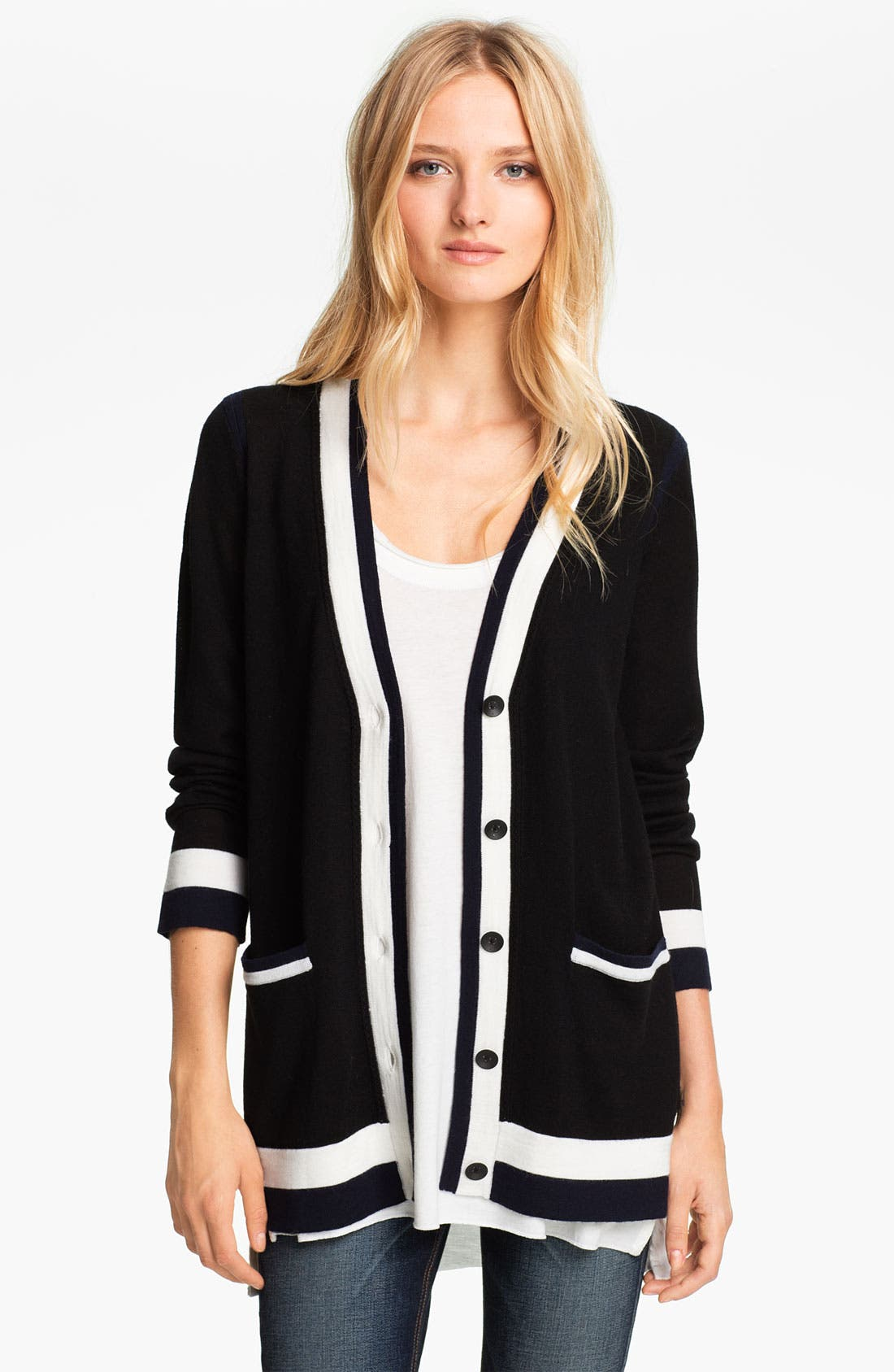 Alternate Image 1 Selected - rag & bone 'Prymm' Merino Wool Cardigan