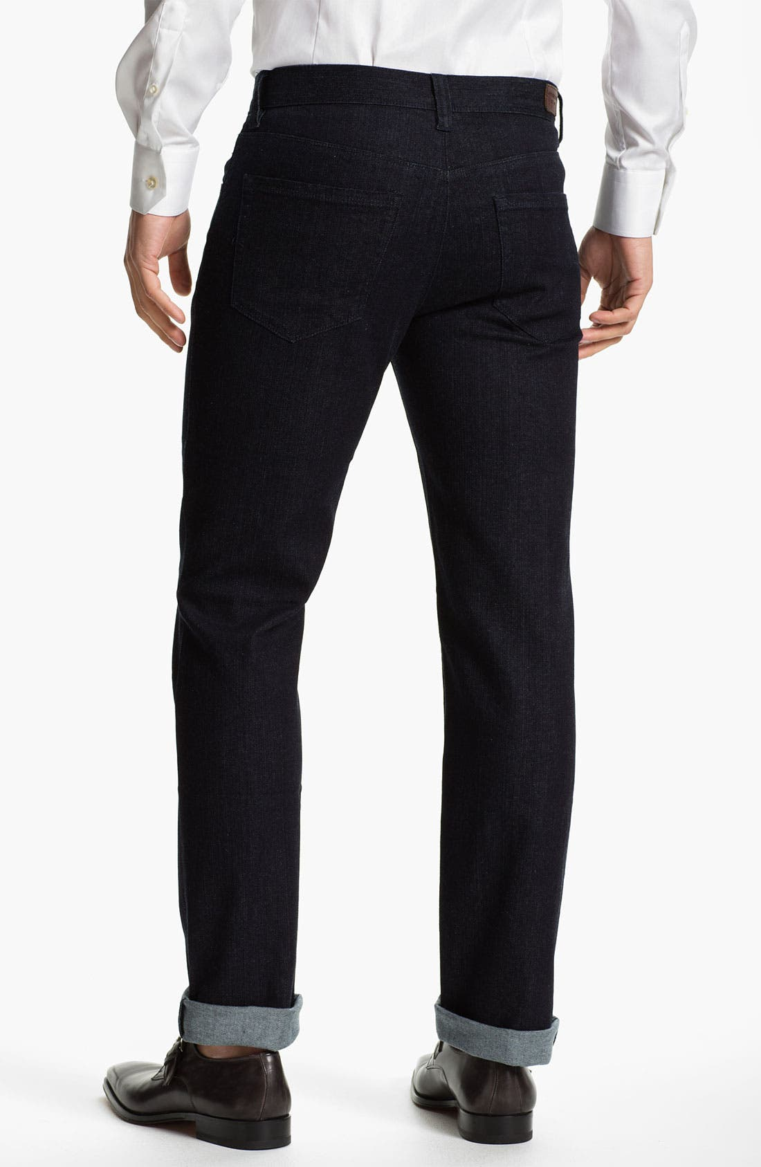Alternate Image 2  - Michael Kors Straight Leg Jeans (Dark Rinse)
