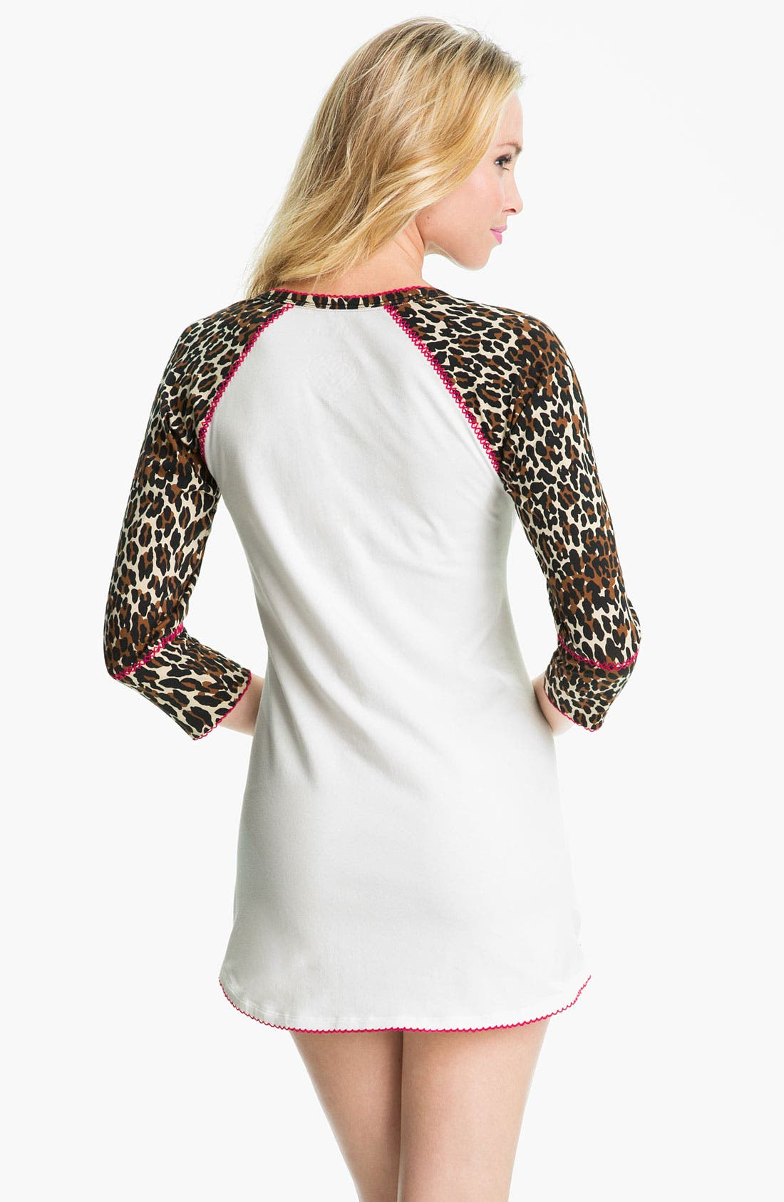 Alternate Image 2  - Betsey Johnson 'Minnie' Stretch Cotton Sleep Shirt