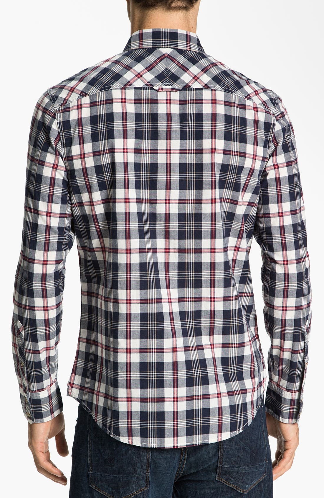 Alternate Image 2  - 1901 Plaid Cotton Poplin Shirt