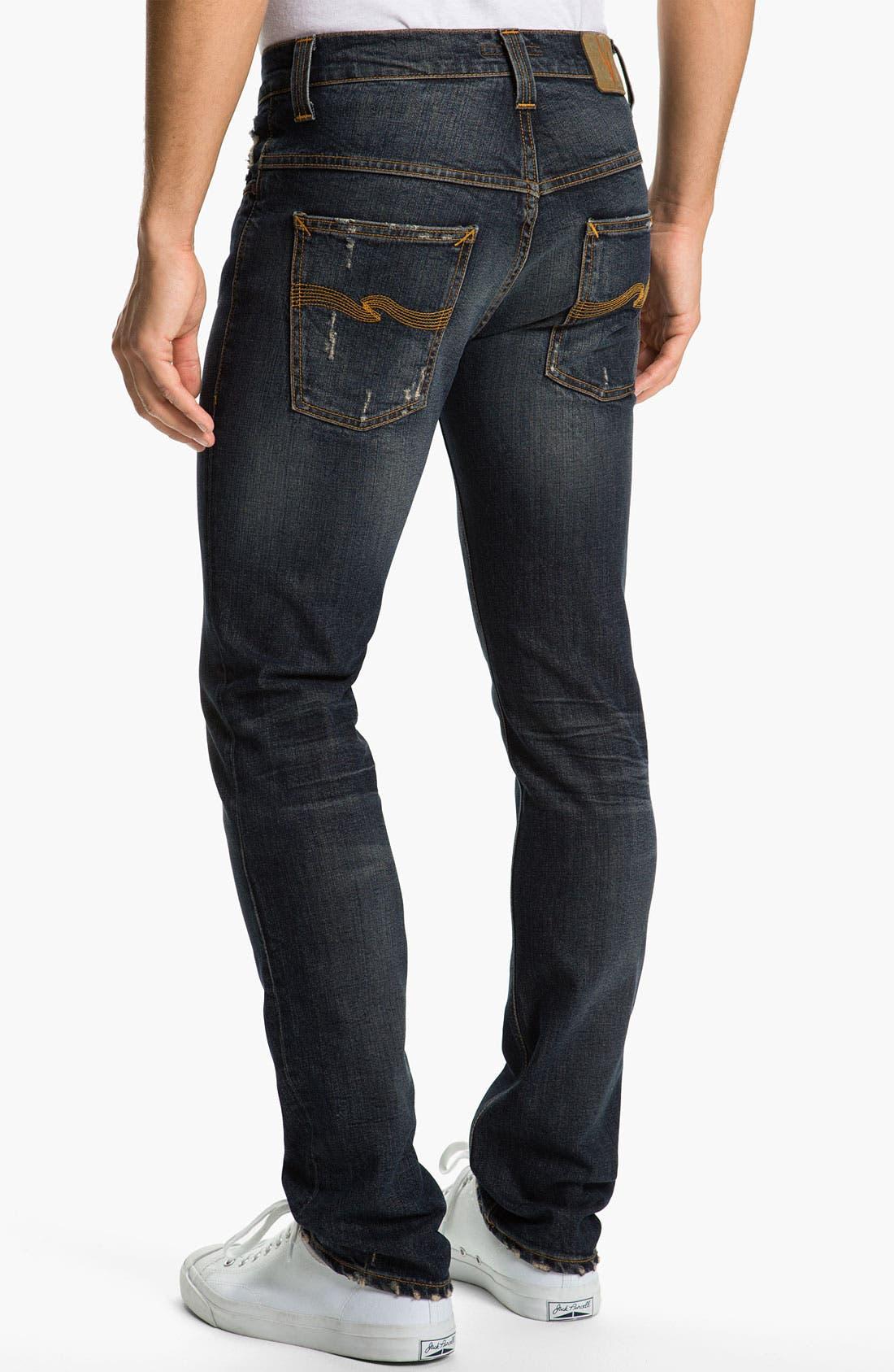 Main Image - Nudie 'Thin Fin' Skinny Leg Jeans (Organic Well Used)