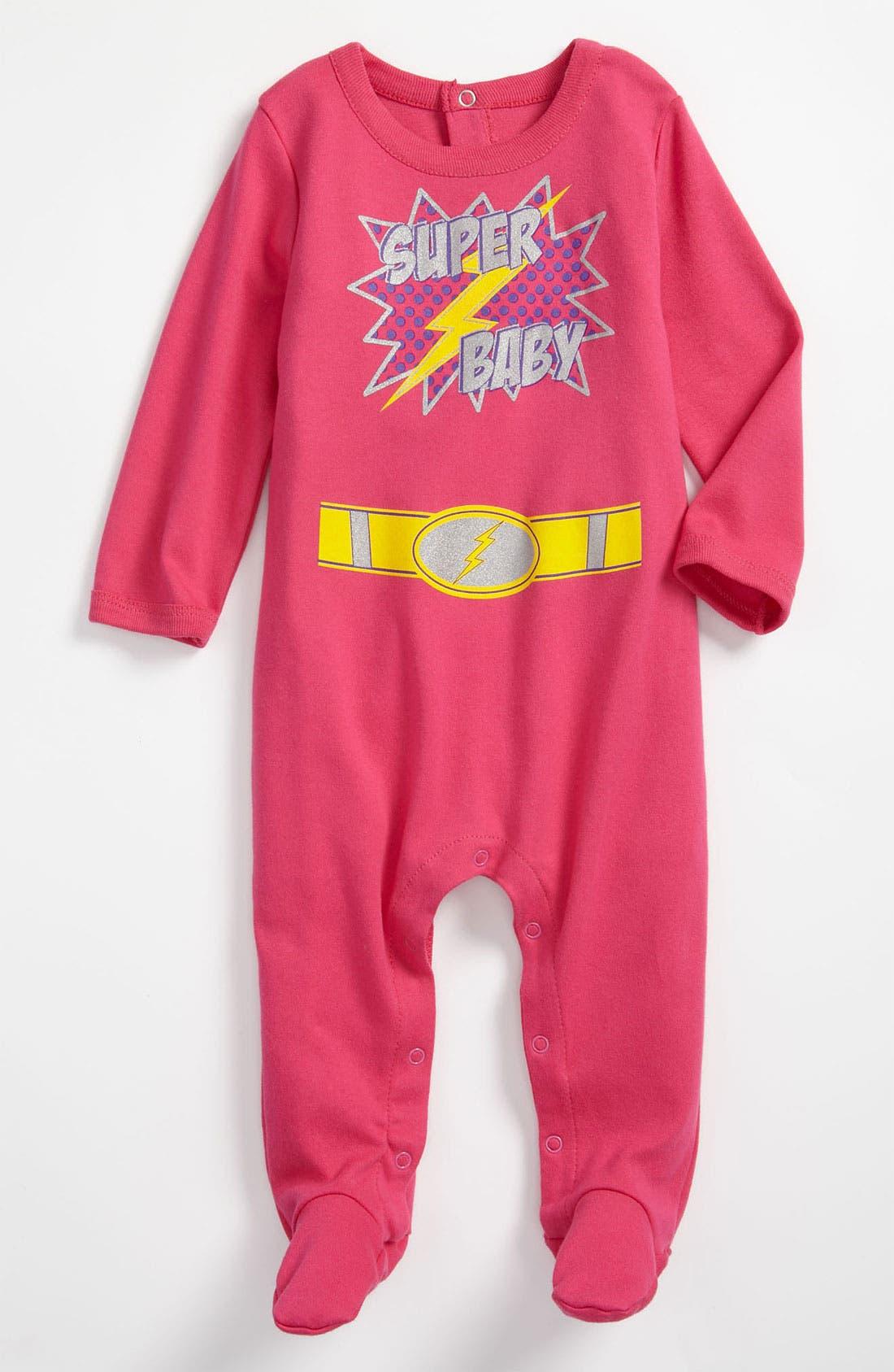 Alternate Image 1 Selected - Sara Kety Baby & Kids 'Super Baby' Footie (Infant)