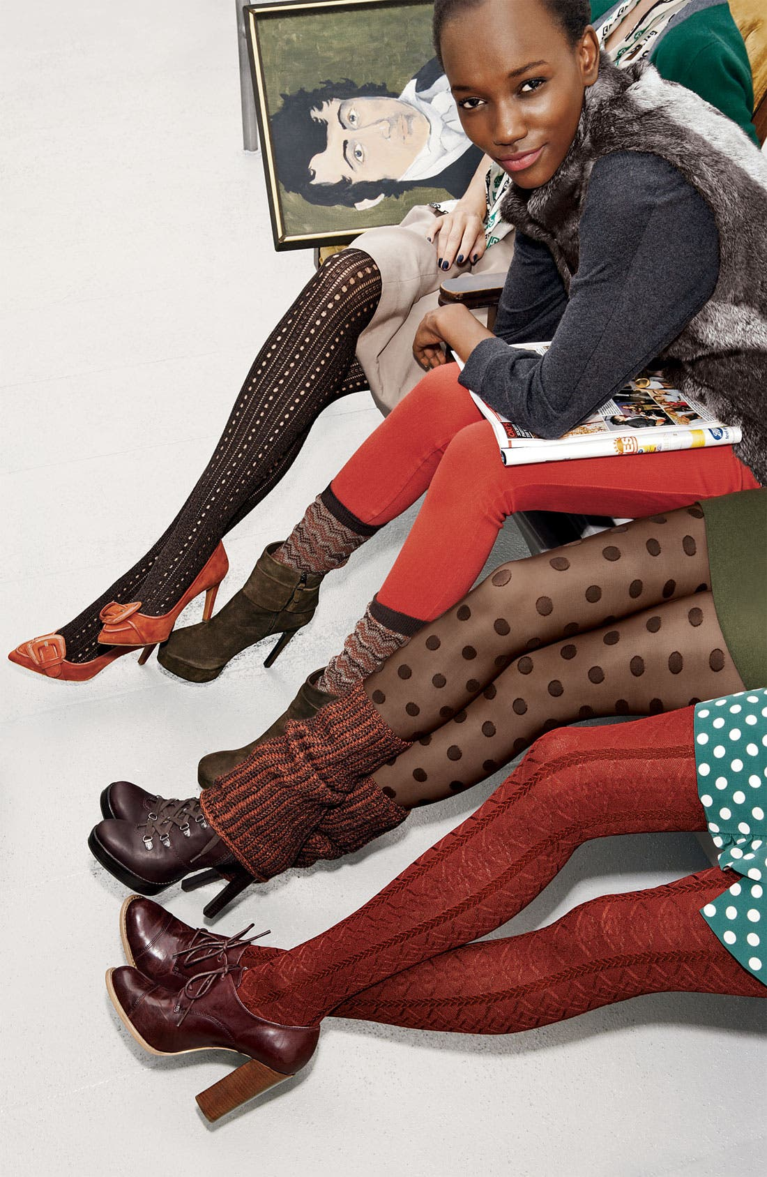 Alternate Image 3  - Hue Pointelle Sweater Tights
