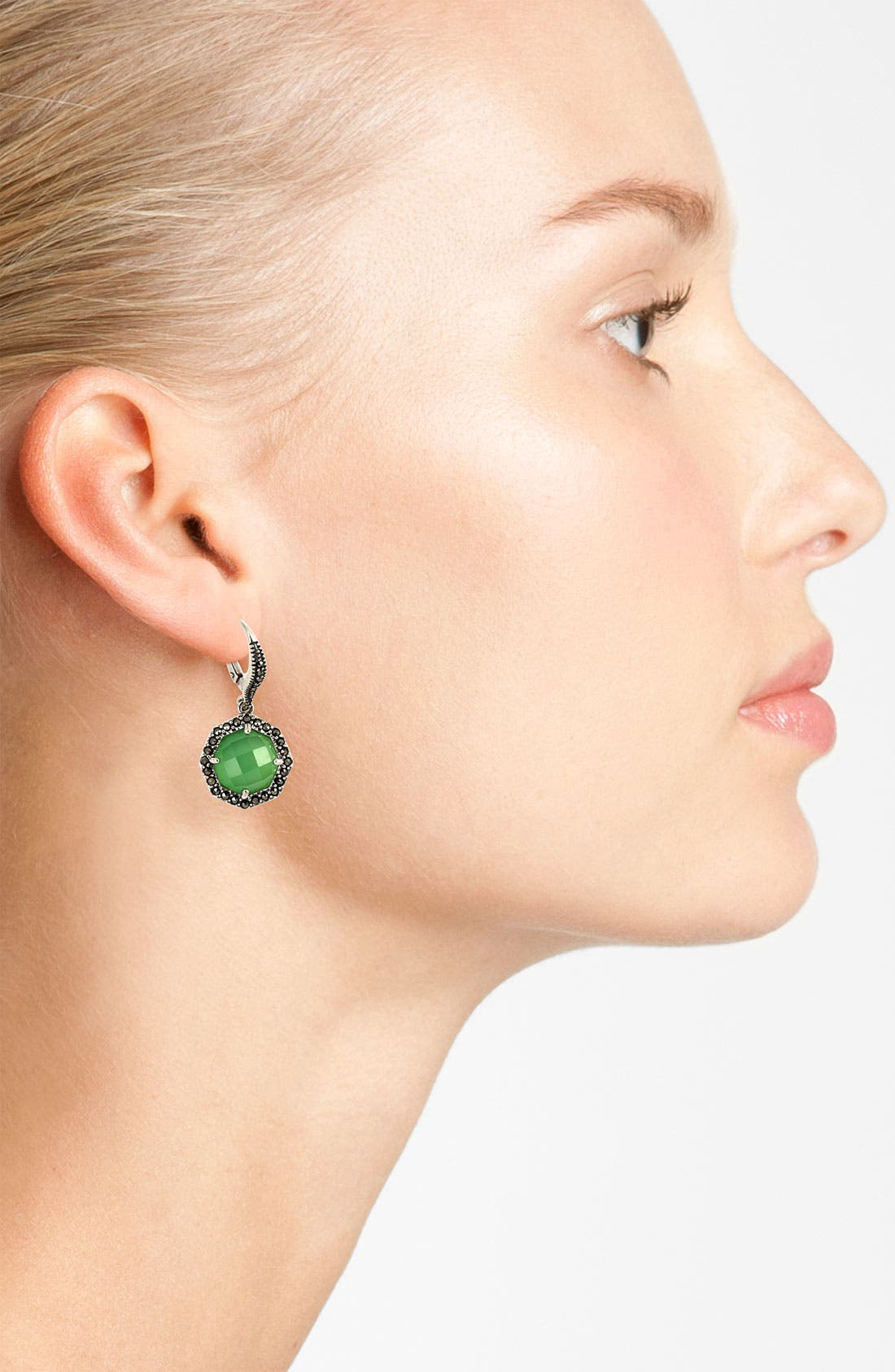 Alternate Image 2  - Judith Jack 'Maldives' Small Stone Drop Earrings
