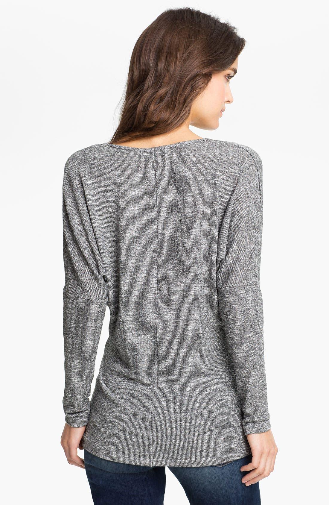Alternate Image 2  - Velvet Oversized Metallic Sweater (Nordstrom Exclusive)