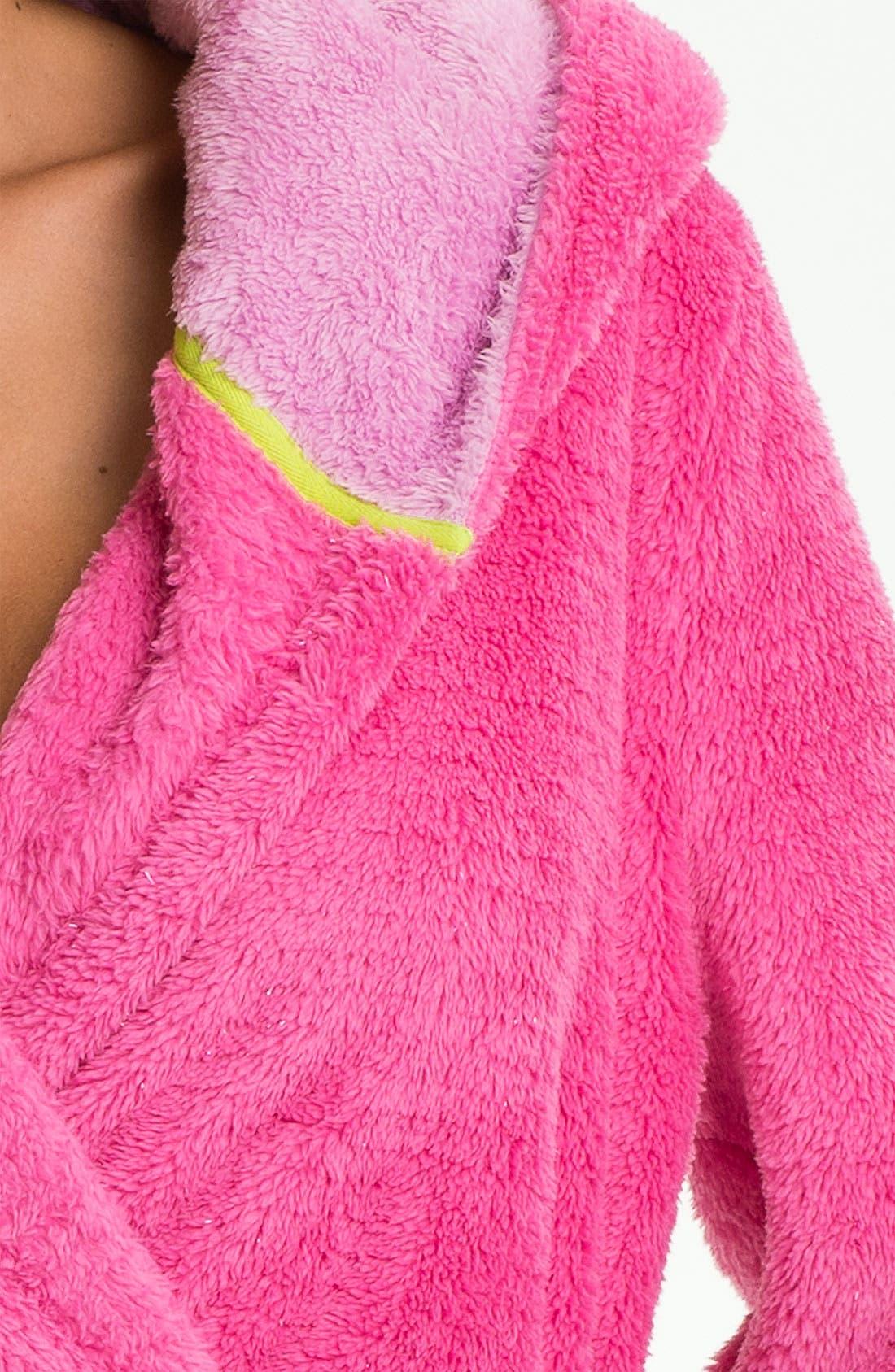 Alternate Image 3  - Steve Madden 'Pattern Play' Fluffy Lurex® Robe