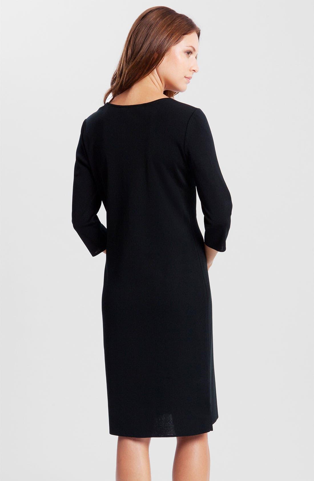 V-Neck Dress,                             Alternate thumbnail 2, color,                             Black