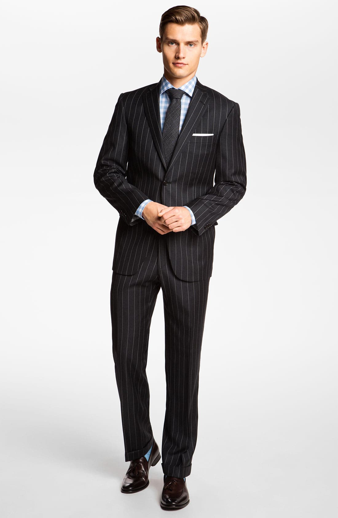 Alternate Image 2  - Hart Schaffner Marx Stripe Wool Suit