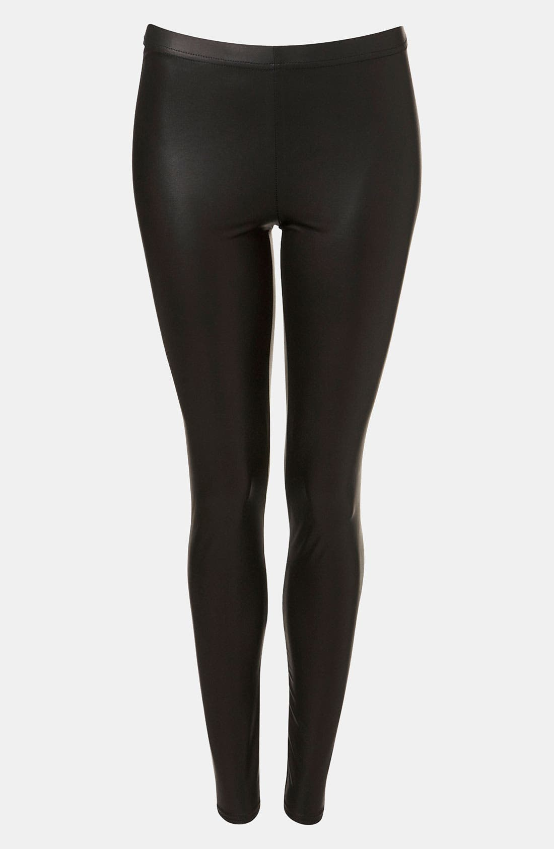 Alternate Image 3  - Topshop Faux Leather Leggings