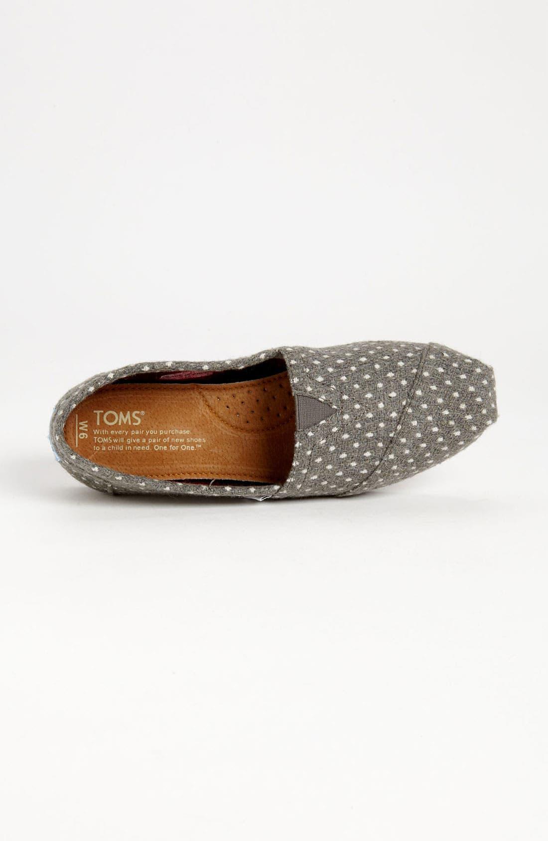 Alternate Image 3  - TOMS 'Classic - Dot' Woolen Slip-On (Women)